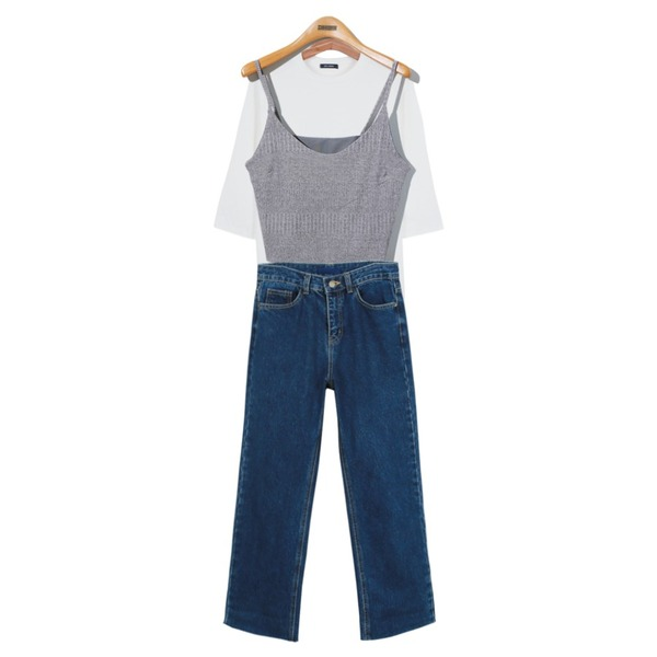 Reine Maple Petit Sleeveless Top ,daily monday Casual straight cutting jean9/18 입고예정,daily monday Daily color 7-tee등을 매치한 코디