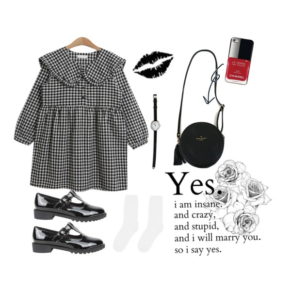 Untitled,AIN glossy belted loafer (2 colors),TODAY ME [dress]앤토니 원피스등을 매치한 코디