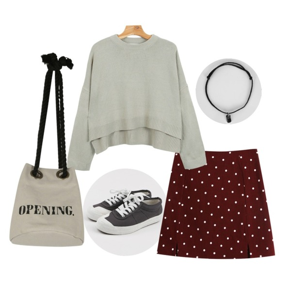 TODAY ME [skirt]카푸치노 스커트,daily monday Front cozy sneakers,daily monday Pastel unbal knit9/21 입고예정등을 매치한 코디