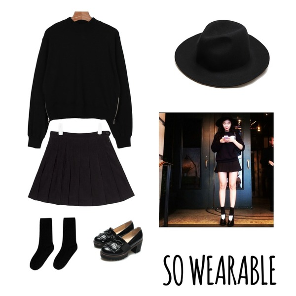 Reine Morocco Ribbon Oxford Loafer ,AIN suede tennis skirt (3 colors),daily monday Zipper short man to man등을 매치한 코디
