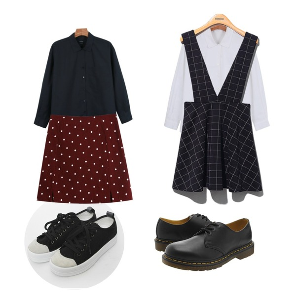 TODAY ME [shoes]호나 슈즈,daily monday Daily v-open shirts,daily monday Daily v-open shirts등을 매치한 코디