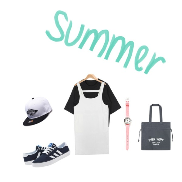 AIN minimal overall ops (4 colors),AIN unique slit 5 T (2 colors),Player 아디다스 키엘 남흰 (KIEL CLNV/WHT/BLBR)등을 매치한 코디