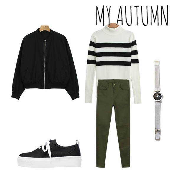 daily monday Reversible jumper,daily monday Basic cotton color skinny,TODAY ME [knit]컬쳐 폴라 니트등을 매치한 코디