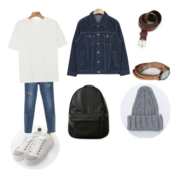 TODAY ME [shoes]호나 슈즈,Zemma World 스폰서 (skinny),daily monday Basic layered color tee등을 매치한 코디