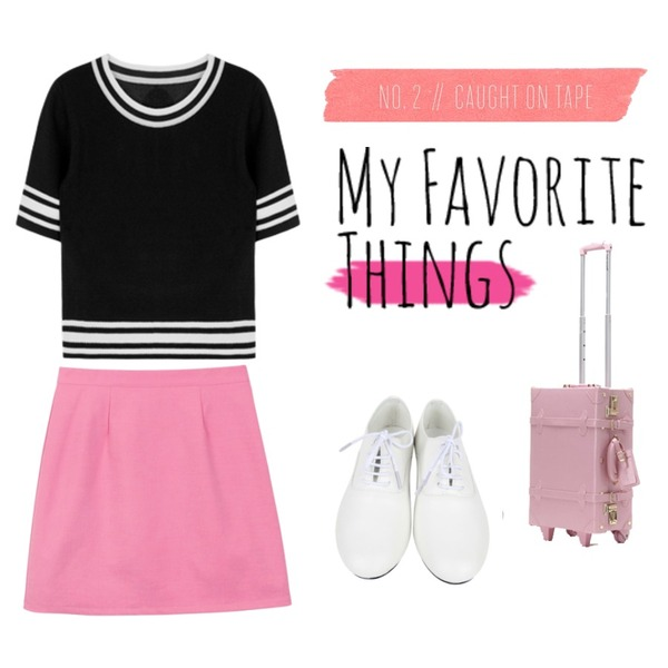 daily monday Pretty A-line skirt,AIN dancing loafer (2 colors),MIXXMIX 라인 컬러 니트 티셔츠등을 매치한 코디