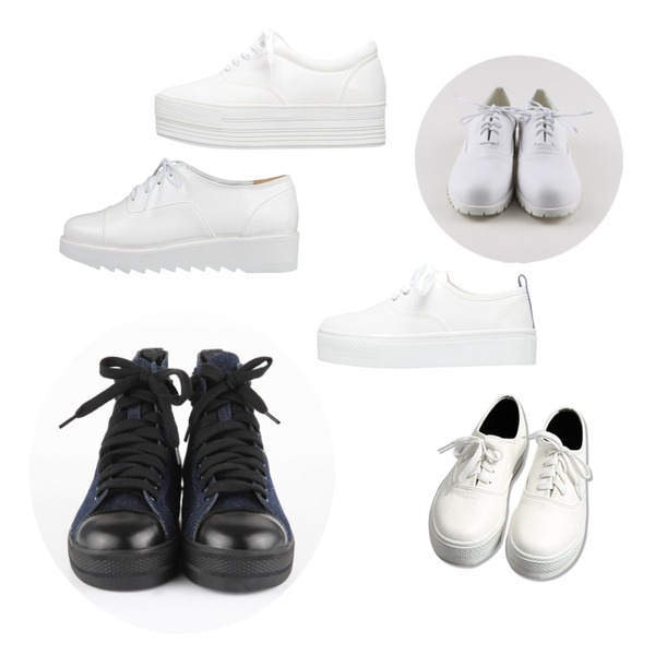 daily monday White coloration loafer,common unique [SHOES] SKIN SHOES,AIN denim high sneakers (2 colors)등을 매치한 코디