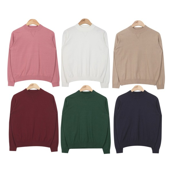 AIN soft touch easy knit (6 colors),AIN soft touch easy knit (6 colors),AIN soft touch easy knit (6 colors)등을 매치한 코디