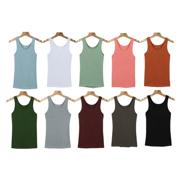 daily monday Color tension sleeveless,daily monday Color tension sleeveless,daily monday Color tension sleeveless등을 매치한 코디