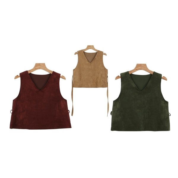 daily monday Suede layered vest,daily monday Suede layered vest,daily monday Suede layered vest등을 매치한 코디