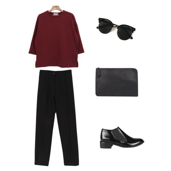 Zemma World Vacation (썬글),AIN gentle low chelsea boots,AIN modern daily various clutch (3 colors)등을 매치한 코디