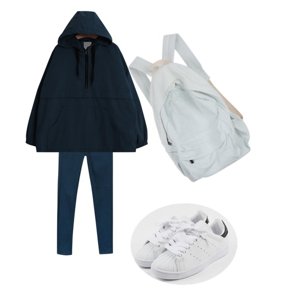 daily monday Round cushion sneakers,daily monday Basic cotton color skinny,TODAY ME [mtm]모르코 아노락등을 매치한 코디