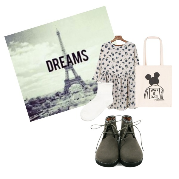 dreams,Zemma World 맘마미아 (ops),daily monday Round Suede shoes등을 매치한 코디