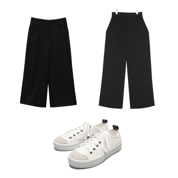 AIN mac straight fit long slacks (3 colors),Reine Run&Run Neat Sneakers,daily monday Quality bold wide slacks등을 매치한 코디