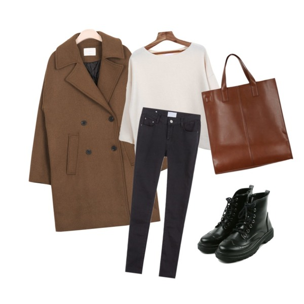 daily monday Classy chelsea boots,AIN muji boxy standard wool coat (3 colors),Zemma World 크림슈 (t)등을 매치한 코디