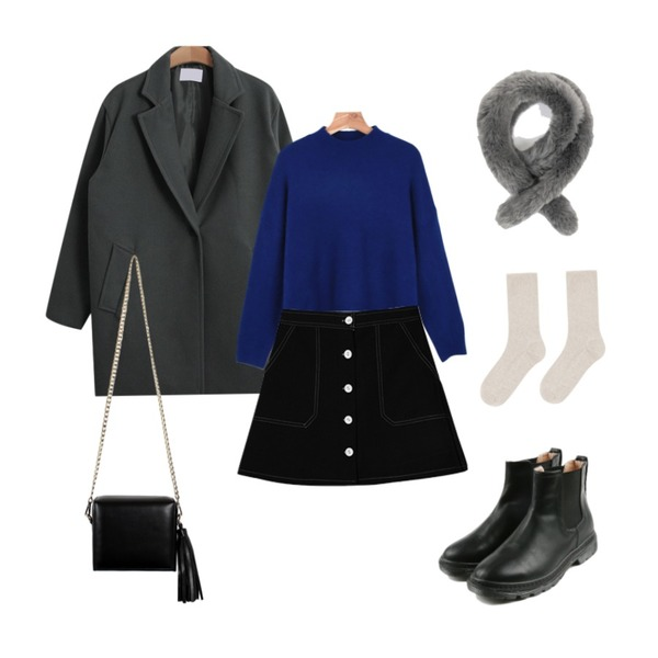 daily monday Brown vintage ankle boots,daily monday Soft basic knit,TODAY ME [coat]윈드 코트등을 매치한 코디