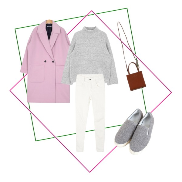 Untitled,Untitled,AIN pastel-color straight line coat (3 colors)등을 매치한 코디