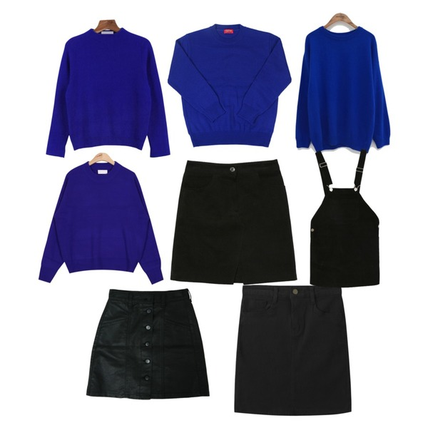 AIN long sleeves bold neck  knit (5 colors),daily monday Sleeve slit knit,common unique [TOP] SWEET ANGORA KNIT등을 매치한 코디