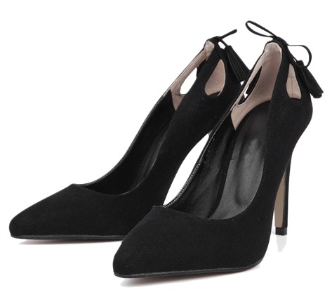 back point stiletto heel (3 colors)