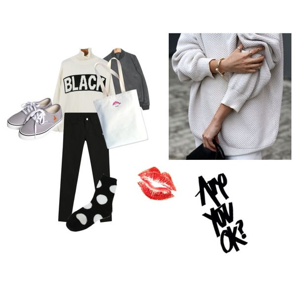 TODAY ME [skinny]톰 컬러 스키니진,daily monday Black turtle neck knit,AIN casual simple baseball jumper (2 colors)등을 매치한 코디