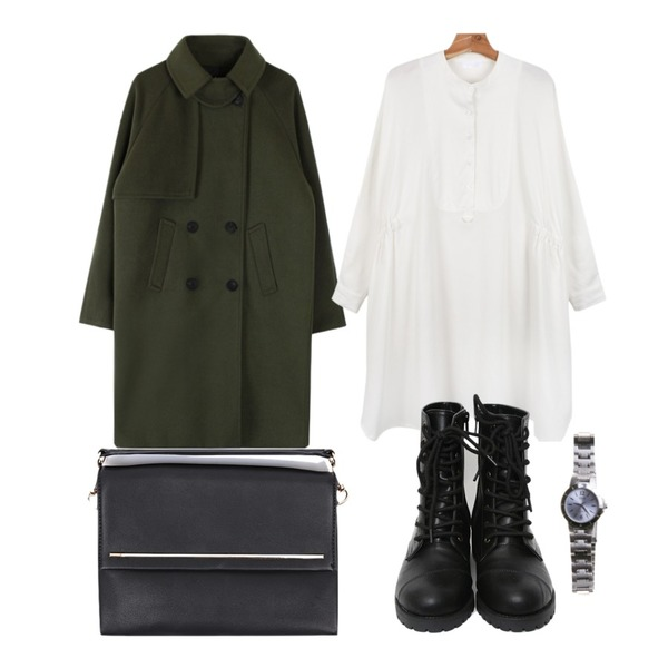 daily monday Free size boxy one-piece,biznshoe Cape cara wool coat (3color),TODAY ME [shoes]메르치 워커 슈즈등을 매치한 코디