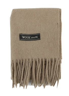 Point color wool muffler