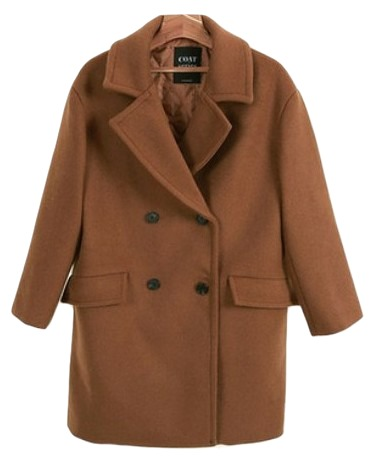 Pitch-coat (wool 55%) - Sequential shipment of camel shoe
