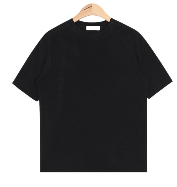 cutting round-neck T (4 colors)