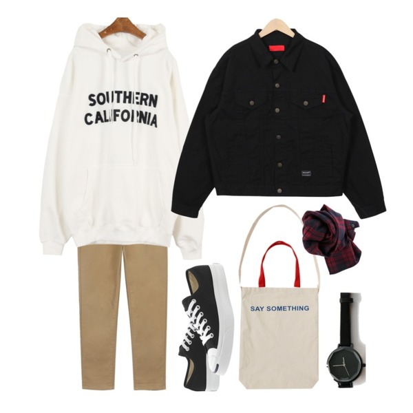 daily monday Comfort string cotton pants,MINIBBONG 캘리포니아-hd,From Beginning Pocket casual cotton jacket_H  (size : free)등을 매치한 코디