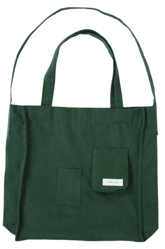 Two pocket cotton eco bag_A (size : one)