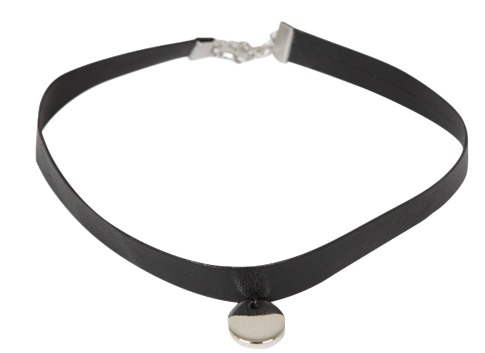 Circle Leather Choker