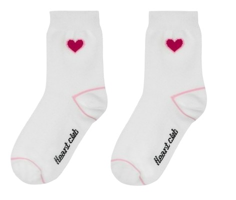 Girls Wear Girls Wear Heart club 16SSHeart Point Socks