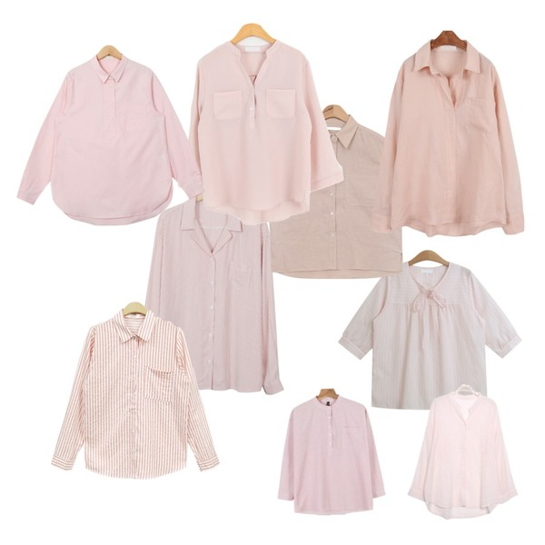 From Beginning Stripe pajama blouse_P (size : free),TODAY ME [blouses]세레니 블라우스,AIN soft color jacket blouse (3 colors)등을 매치한 코디