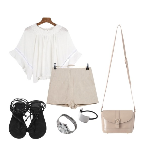 Zemma World CASIO 빈티지라인,From Beginning Sweat string sandal_P (size : 225,230,235,240,245,250),daily monday Charming off shoulder blouse등을 매치한 코디
