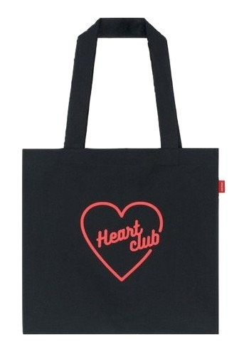 Heart club 16SC Heart eco bag(Black)