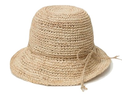 ribbon raffia straw hat (2 colors)