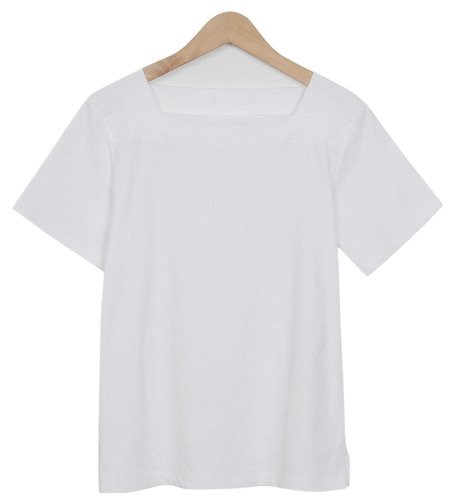 Square neck cotton T_M (size : free)