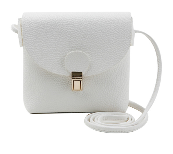 Gold button square mini bag