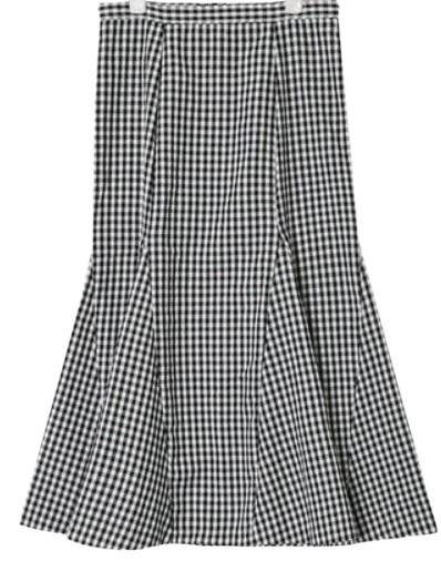 long mermaid check skirt