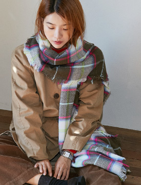Mix color muffler_M (size : one)