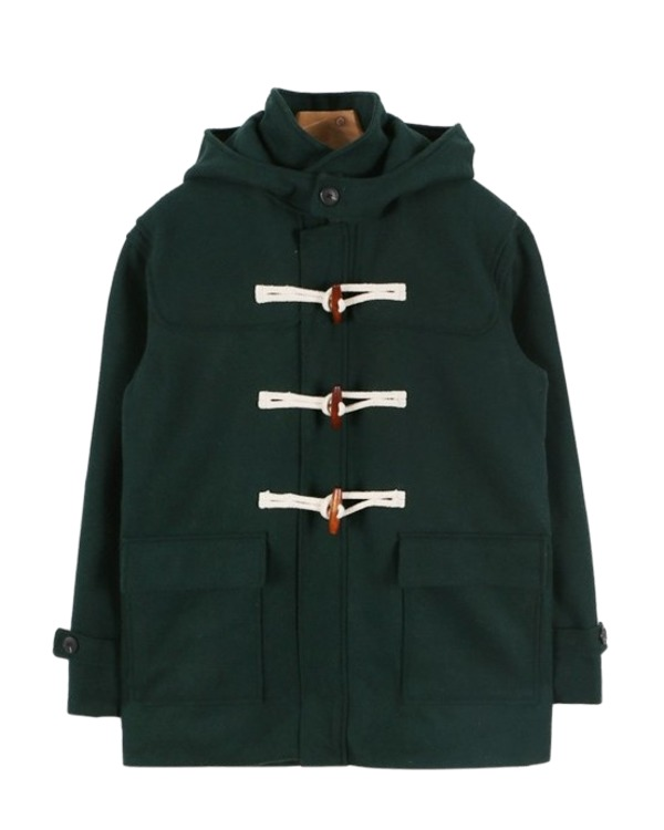 Boxy-fit short duffel coat