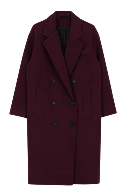 Oversize long coat (4color)