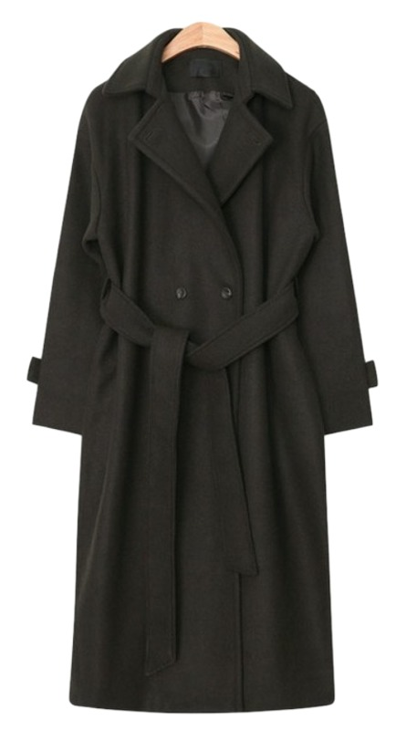 maxi long strap double coat (2 colors)