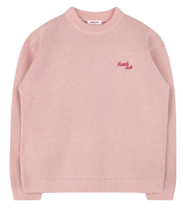 Heart Sleeve Knit (Baby pink)