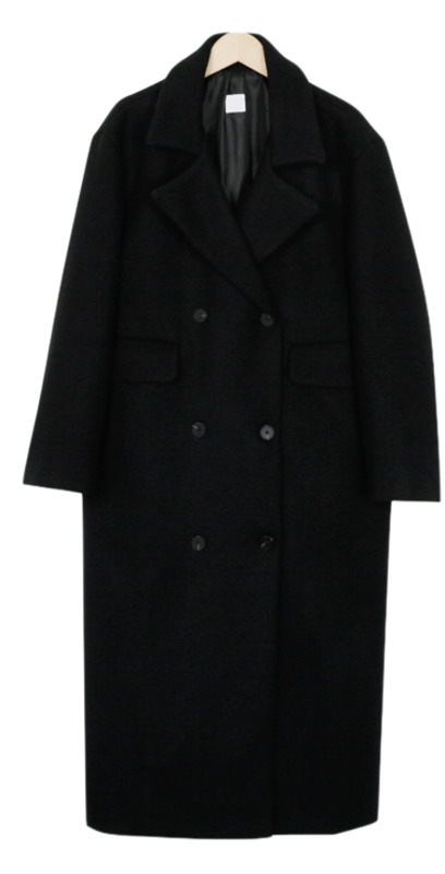 Classic double over coat_M (size : free)