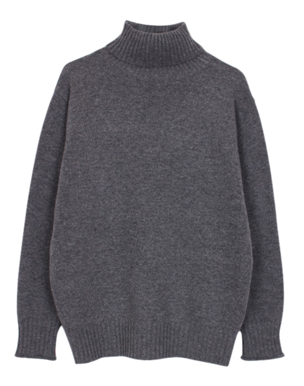Boxy turtleneck knit (4color)