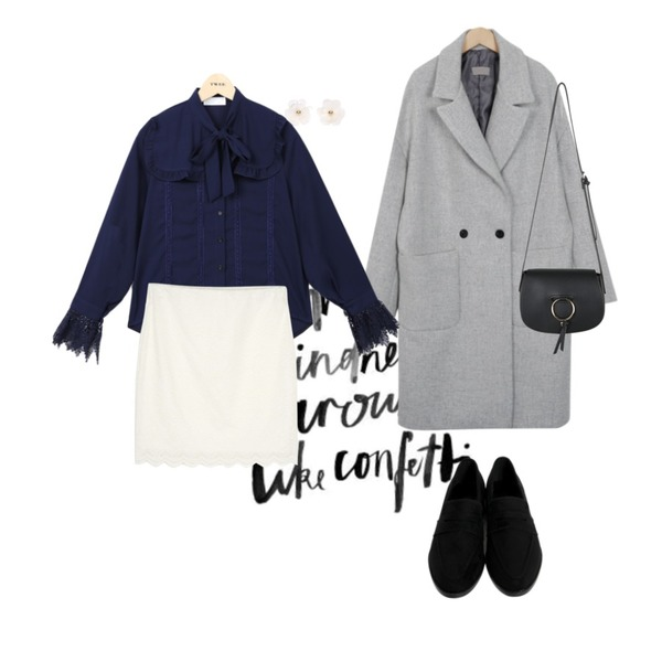 typo,From Beginning Double drop wool coat_H (size : free),From Beginning Moi sweat penny loafer_K(size : 230,235,240,245,250)[15일 입고예정등을 매치한 코디
