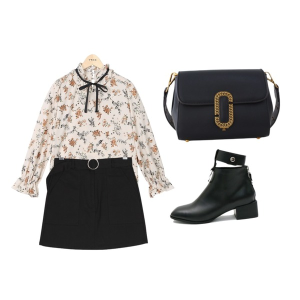 LOVELY SHOES 마테오 숄더&크로스백,daily monday Silver unique ring ankle boots250 02/20 입고예정,TWEE Ribbon string flower blouse등을 매치한 코디