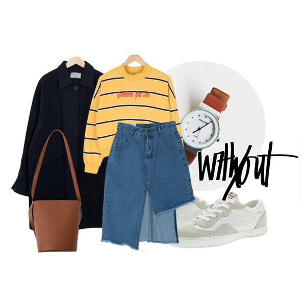 daily monday Glass frame leather watch,Player 수페르가 2832 나일론 화이트 (SUPERGA 2832-NYLU WHITE),From Beginning Made_outer-075_balloon half trench coat (size : free)[13일 입고 후 순차적배송등을 매치한 코디
