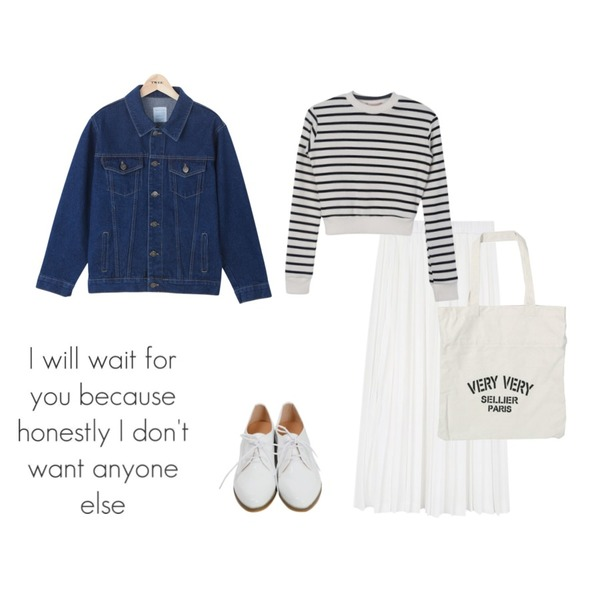 From Beginning Skin enamel oxford loafer_H (size : 230,235,240,245,250),GIRLS RULE 오레오 크롭 맨투맨 (t2484),daily monday Piano long pleats skirt등을 매치한 코디