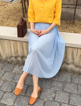 Bee bee pleats skirt_B (size : free)